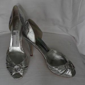Aldo Silver Peep Toe Heels- Size 41 (10)